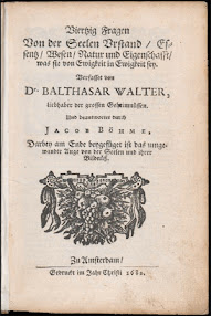 Cover of Balthasar Walther's Book Vierzig Fragen von der Seelen Urstand (1682,in German)