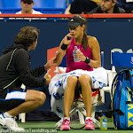 Ana Ivanovic being coached