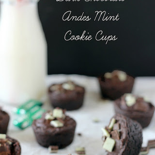 Dark Chocolate Andes Cookie Cups