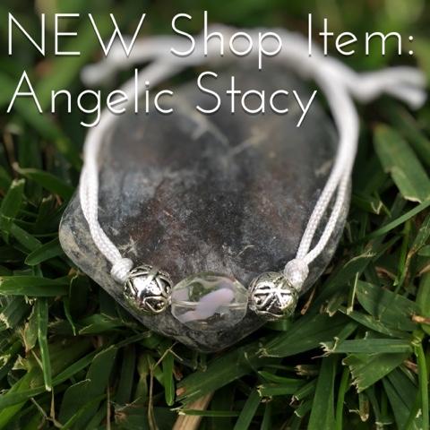 handmade white bracelet - angelic stacy