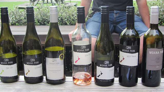 The excellent tasting selection at Mona Park - our favorite winery of the day.