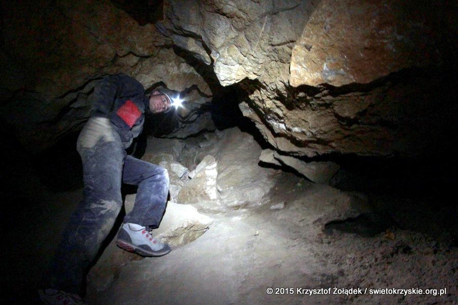 Wnętrza Jaskini Wschodniej na Kadzielni