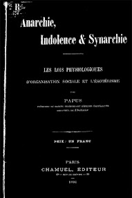 Cover of Papus's Book Anarchie, Indolence  and Synarchie (1894,in French)