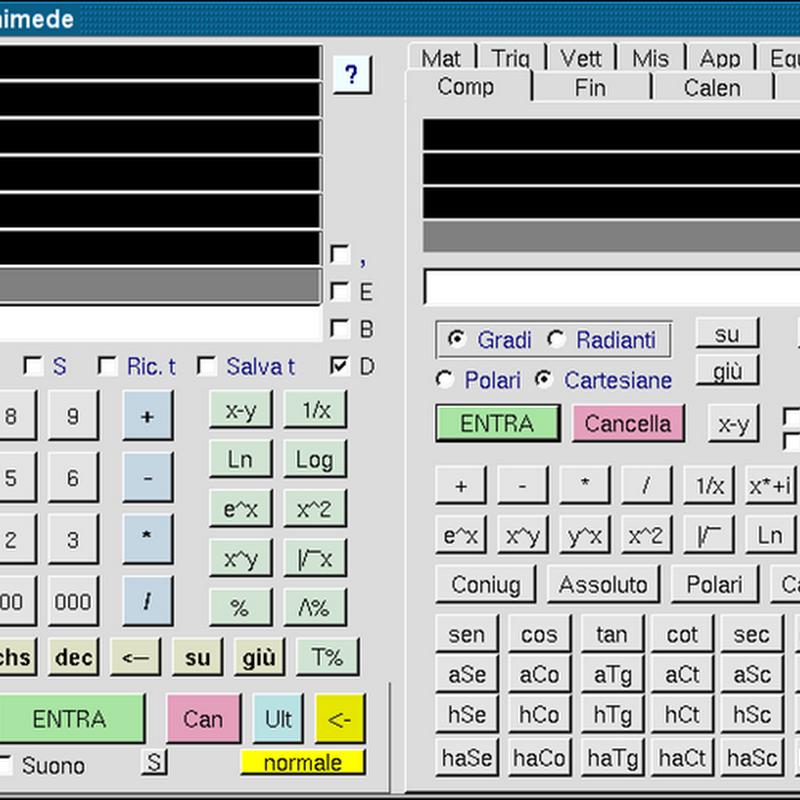 Archimede è la versione per Linux di einSTein, potente calcolatrice programmabile RPN e algebrica.