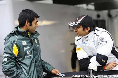 Карун Чандхок и Нараин Картикеян на Гран-при Кореи 2011