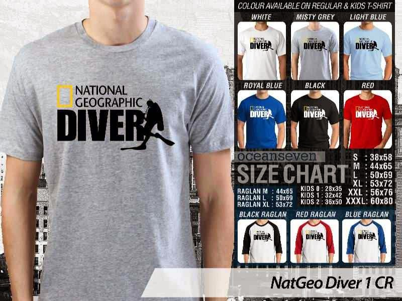 Kaos NatGeo Diver 1 CR Diving distro ocean seven