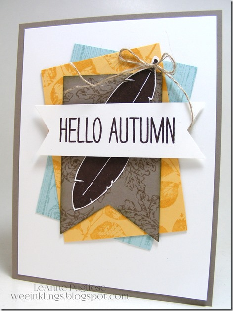 LeAnne Pugliese WeeInklings Hello Autumn Stampin Up