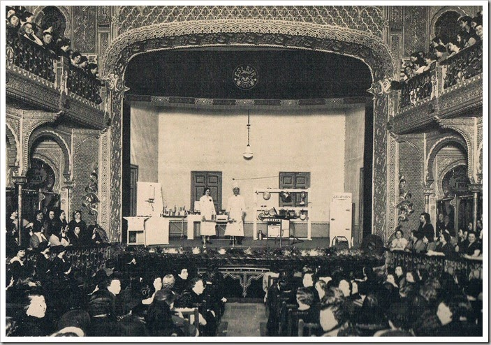 1936 Teatro Eslava. Curso de cocina,rafael solaz
