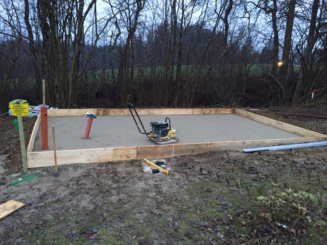 Wir bauen mit Keitel Haus in Markt Buchbach: Fundament Gartenhaus