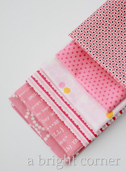 Pink fat quarters