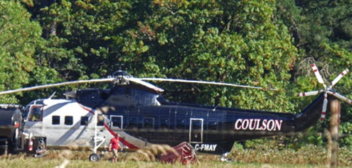 Fire Fighting Helicopter, Myrtle Creek Airport