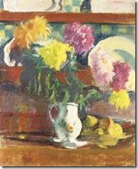 jean puy- Dalias y copa de frutas, 1906