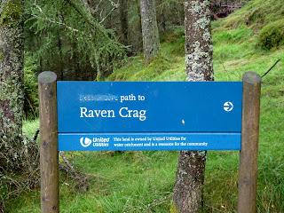 Sign for Raven Crag