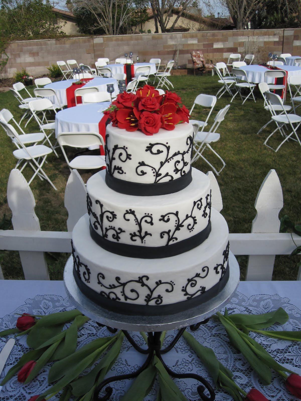 Rhodeshia\'s blog: black and red wedding cakes