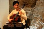 Momentos previos al concierto. Andrea Vettoretti (Italia)