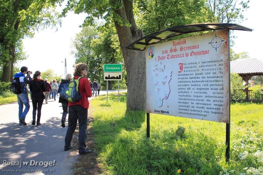 Gnojewo - wjazd do miejscowości