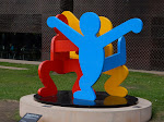 A Keith Haring sculpture