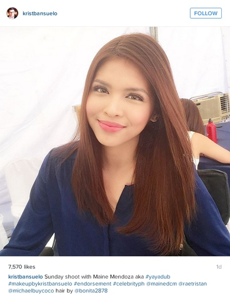 Maine Mendoza at the set of her third TVC