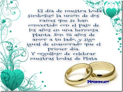 Bodas de Plata frases y dedicatorias para bodas de Plata