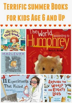 Summer books and summer projects for kids age 6 and up