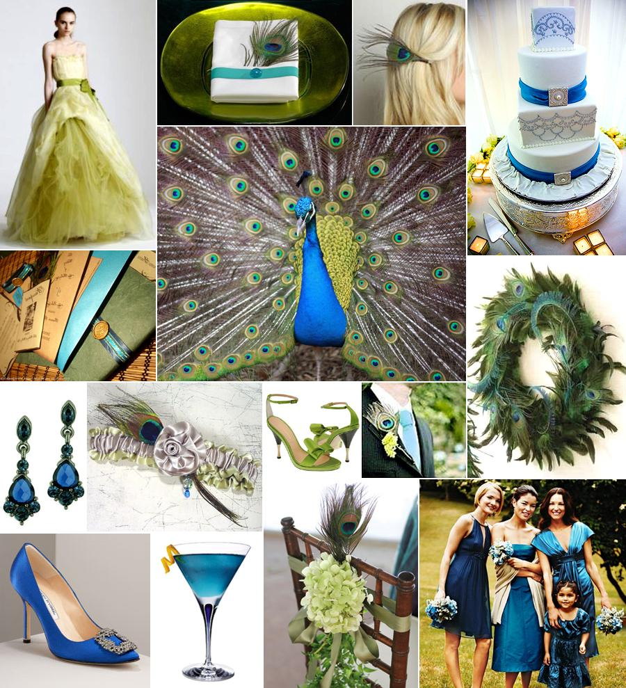 My theme is peacock feathers.