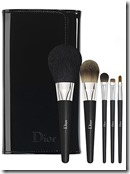Dior makeup brush set and pouch