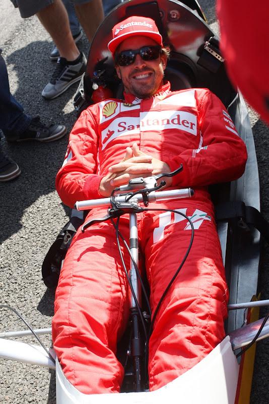 Фернандо Алонсо на Эко-Марафоне Shell на Гран-при Бельгии 2014