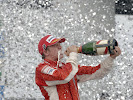 Kimi Raikkonen celebrates his 2007 driver World Championship victory