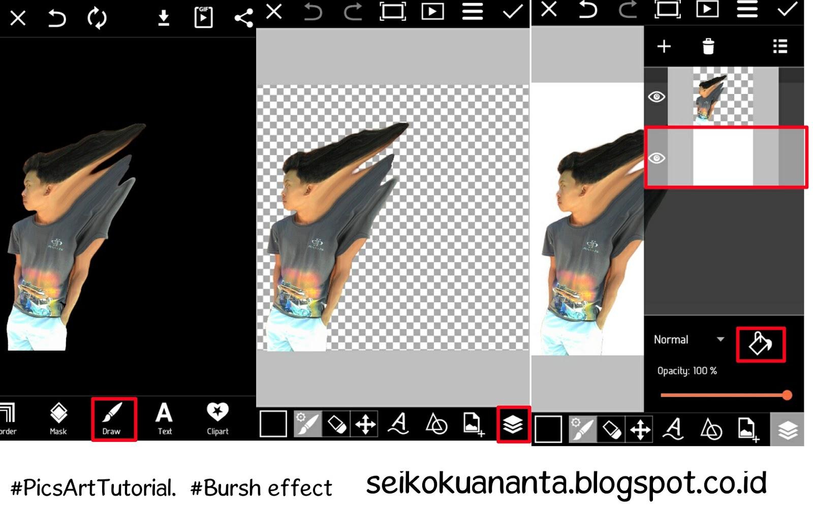 Cara membuat foto berhamburan menggunakan picsart studio - Seikoku ...