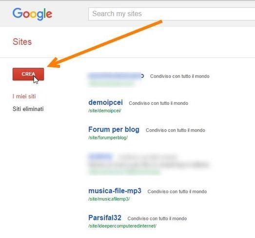 google-sites-nuovo-sito