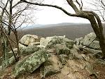 Chimney Rock, Catoctin Mountain Park near Thurmont, Maryland, in wintertime.