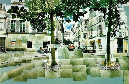 David Hockney's Paris collage