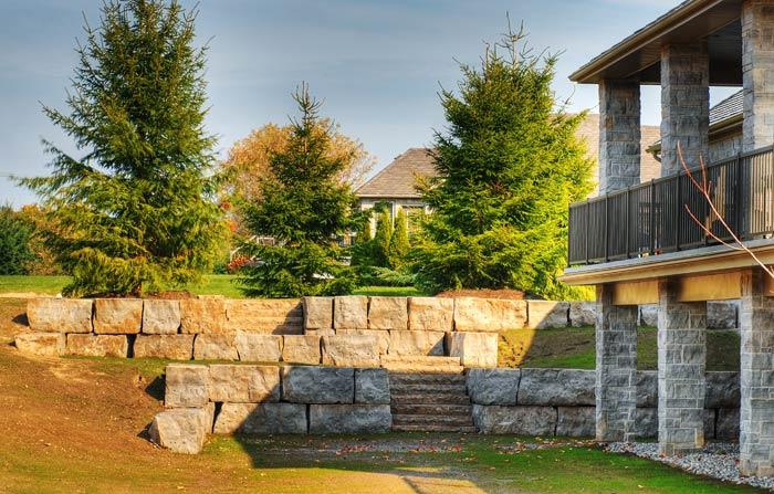 Limestone Retaining Walls