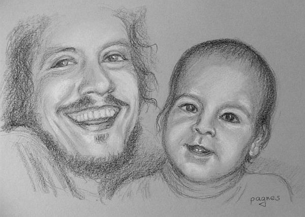 ritratto padre e bambino