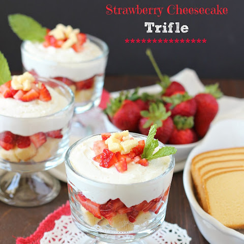 No Bake Strawberry Cheesecake Trifle