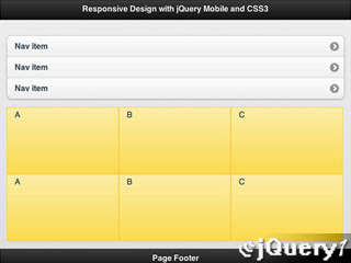 responsive design with jQuery Mobile and CSS3