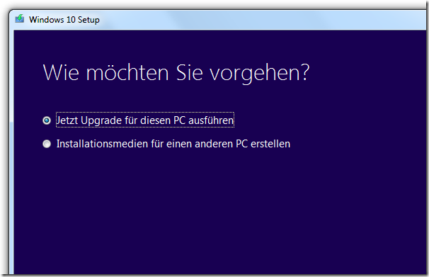 Windows 7 Pro auf Windows 10 upgraden