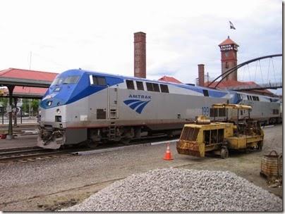 IMG_6185 Amtrak P42DC #199 at Union Station in Portland, Oregon on June 7, 2009