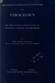 Cover of John Maxson Stillman's Book Theophrastus Bombastus von Hohenheim called Paracelsus