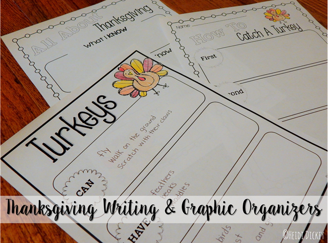 Thanksgiving Writing & Graphic Organizers