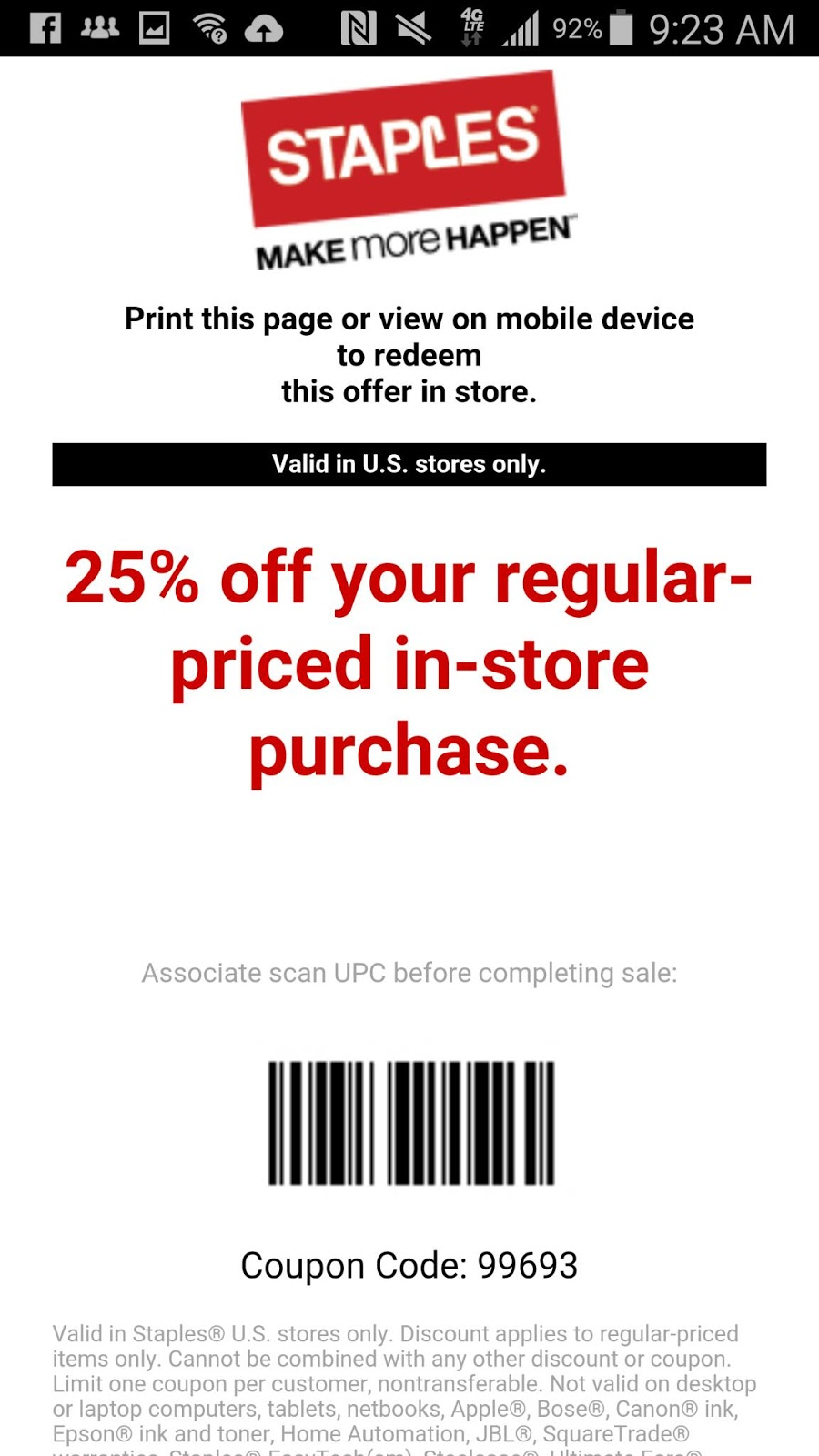 Staples color printing coupon code - Staples Coupon 25 Off Regular Priced Order Expires 10 13
