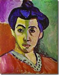 Matisse, madame Matisse, retrato de la raya verde, 1905