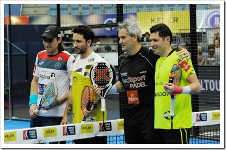 Miguel Lamperti y Adrián Allemandi contra Sanyo y Juani Mieres