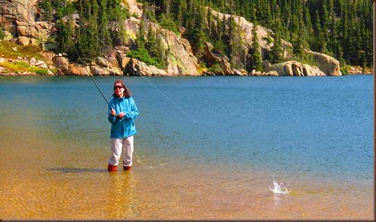Arleen Fly Fishing Windsor Lake
