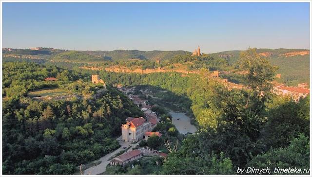 Велико Тырново. Панорама с видом на Царевец