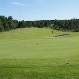 De golfbaan bij het hotel; kijk uit voor de bal!