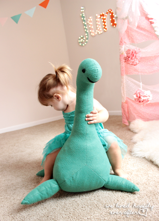 Loch Ness Monster Stuffed Animal Tutorial & Pattern 10