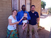 Matimu and us with the Welani Principal, Moses, one of our all-time best friends in South Africa.
