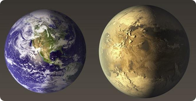 Nasa mostra comparação entre a Terra e o Kepler-186f (Foto Nasa)