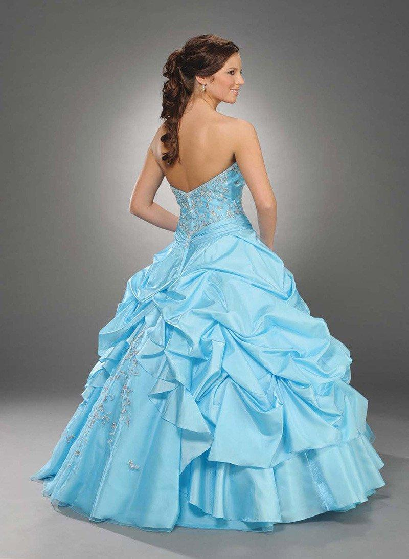 Strapless gown with